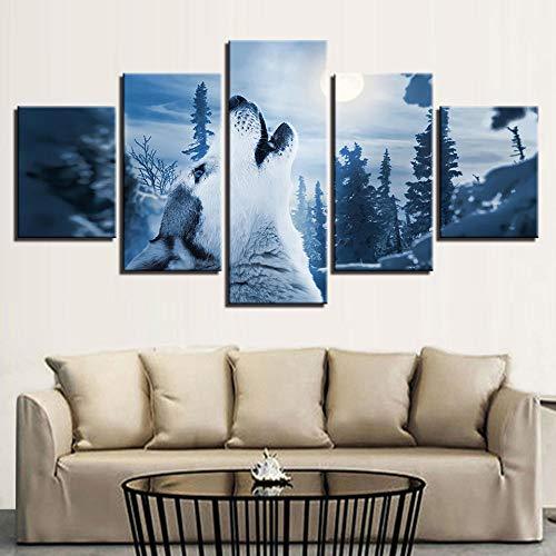 SMXSSJT 5 Panels Wandbilder Kunstdruck Wolverine Hd Gedruckt Bilder Leinwand 5 Stücke Paintings Home Poster Decor Für Wohnzimmer Wandkunst 5 Panel.30X60Cm*2/30X70Cm*2/30X80Cm*1(Ohne Rahmen)