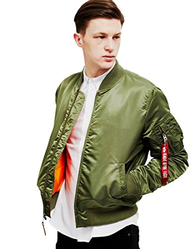 ALPHA INDUSTRIES Flight Jacket|MA-1 VF 59 Chaqueta, Verde (Sage Green 01), M para Hombre