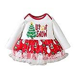 HWTOP Baby Mädchen Romper Kleider Einteiliges Puffkleid Weihnachten Abendkleider Partykleid...