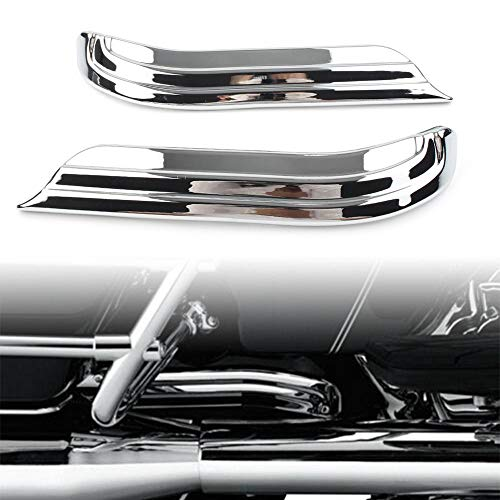 Three T Chrome Motorcycle Swing Arm Covers Trim Louvered Swingarm Covers Accent Trim Fit for Harley Touring Electra Glide Road Glide Road King Street Glide 2009-2020