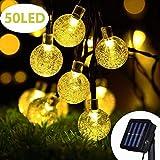 Cshare ソーラー LED ストリングライト イルミネーションライト 50電球 7M IP65防水 8モード 夜間自動点灯 クリスマス/ハロウィン/パーティー/バレンタインデー/新年/祝日/結婚式/学園祭屋外/室外/室内/庭対応 ソーラーパネル 飾りライトの写真