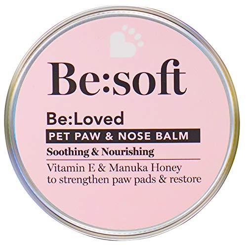 Be:soft Baume naturel pour pattes et nez pour chien Nourrit intensément Hydrate et renforce Idéal pour le nez, les pattes et la peau Pot de 60 g
