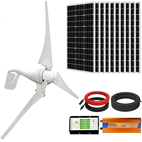 ECO-WORTHY 1400W Wind Solar Power Kit: 400W...