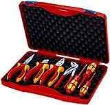 KNIPEX 00 21 15 Maletín compacto 7 piezas para instaladores eléctricos