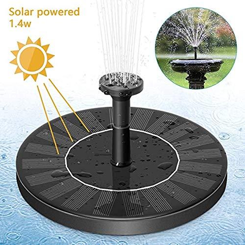 Solarbrunnen-Pumpe, 1.4W Schwimmwasserpumpe im Freien Sonnenenergie-Vogel-Bad Teichpumpe for Aquarium, Wasser Radfahren, Teich oder Garten-Dekoration