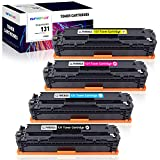 CLYWENSS Compatible crg-131 Toner Cartridges Replacement for Canon 131 CRG131 Toner to use with MF8280Cw MF628Cw MF624Cw LBP7110Cw Laser Printer (Black, Cyan, Magenta, Yellow, 4 Pack)