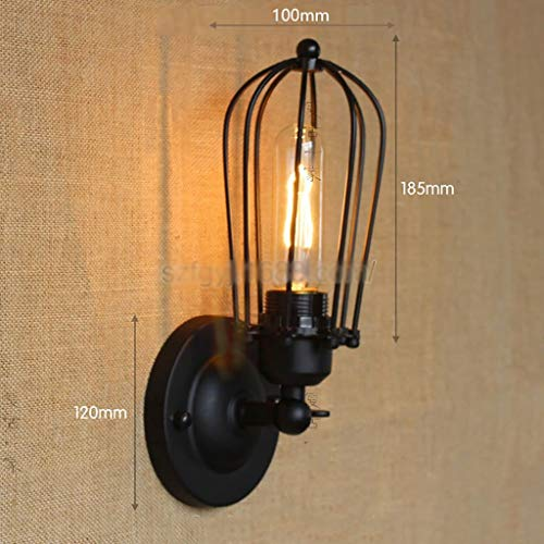GZ Wohnmöbel Retro Einfache Industrie Eisen Kunst Ya Schwarz Gang Treppen Nacht Balkon Designer Lichter Dekorative Wandleuchte,C