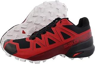 Salomon Men's Speedcross 5 Trail Running Shoe, Goji Berry/White/Black