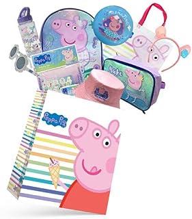 Peppa Pig Make A Splash Showbag Girls Boys Gift Pack with Backpack, Cooler Bag, Drink Bottle, Activity Set - Kids Show Bag...