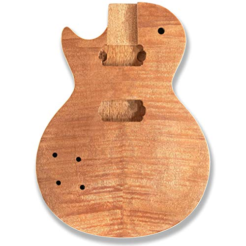 Bex Gears Left-Handed Unfinished Guitar Body for LP guitar, okoume Wood Made