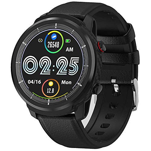 Smart Watch for Android iOS Phones, Waterproof Smart Watch, Fitness Tracker Smartwatch with Blood Pressure Heart Rate and Sleep Monitor, Smartwatch Compatible iPhone Android Phone for Men-2 Bands