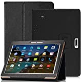 YELLYOUTH 10.1 inch Android Tablet Case,DETUOSI PU Leather Folio Cover Compatible with Yuntab 10.1 (K107/K17),Plum 10' Phablet,Lectrus 10,Victbing 10,Hoozo 10,Wecool 10.1,KUBI 10.1,Winsing LLLCCORP 10