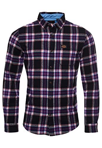 Superdry Heritage Lumberjack Shirt Camicia, Hatton Check Navy, XL Uomo