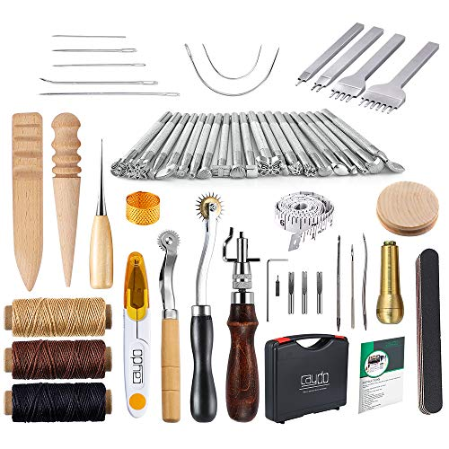 Caydo 59 Pieces Leather Working Tools Kit