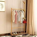 TXXM Perchero vertical para dormitorio, para puerta, de madera de bambú, multifuncional, para zapatos, tamaño 90 cm