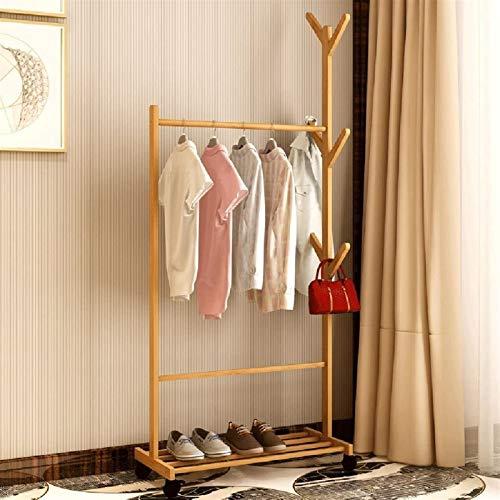 RXL-hanger Perchero vertical para dormitorio, para puerta, de madera de bambú,...