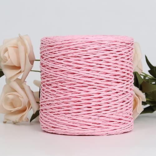 Filato di paglia di carta di Kintting del filato di rafia 100G per il cappello all'uncinetto fantasia del filato dell'imballaggio del fiore di modo di estate