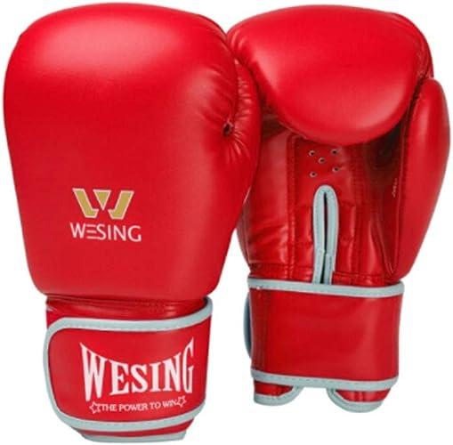 8haowenju Gants de boxe, Gants, Gants de boxe pour hommes et femmes adultes, Combats d'arts martiaux, Formation, Compétition, Sacs de sable, Sacs de sable, Ensembles de collage de boxe, Noir (une pair