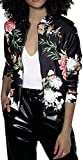 EUDOLAH Chaqueta de Punto Chaqueta de Punto con Cremallera Streetwear Primavera otoño(A-Negro,S)