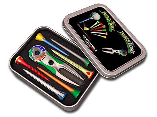 FancyTees FCP_S 6FT_VE, Combo Pack M24 Alzapitch und Tee Golf Design Unisex Erwachsene, Grün, Einheitsgröße