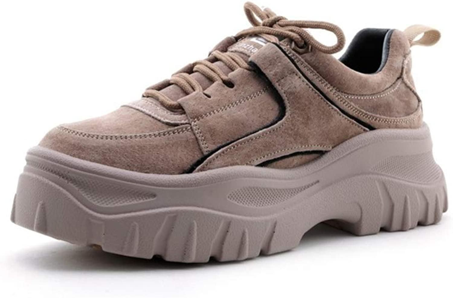 Women's Sneakers Suede Platform shoes Sports shoes Low-Top Casual shoes Athletic shoes Training shoes Outdoor Hiking shoes,B,35