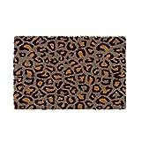 Felpudo de Leopardo Gris exótico de Fibra de Coco Natural de 40x60 cm - LOLAhome