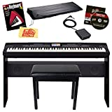 Casio CGP-700BK 88-Key Compact Grand Digital Piano Bundle with Furniture-Style Bench, Dust Cover,...