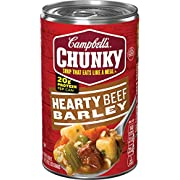 Campbell's Chunky Soup,Hearty Beef Barley Soup, 18.8 Ounce Can