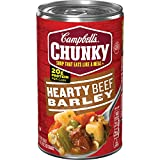 READY TO EAT SOUP: Enjoy a satisfying Hearty Beef Barley Soup loaded with seasoned beef, carrots and potatoes 20 GRAMS OF PROTEIN: Each can contains 20 grams of protein—Fill Up Right GREAT FOR ACTIVE LIFESTYLES: Each bowl is an easy and delicious way...