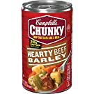 Campbell's Chunky Hearty Beef Barley Soup, 18.8 Ounce, Pack of 12
