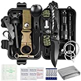 Puhibuox 35 in 1 Survival Gear and Equipment, Gifts for Men Dad Boyfriend Father, Emergency Survival Kit, First Aid Kit, Emergency Camping Gear for Hiking, Hunting, Adventure Outdoors Sport