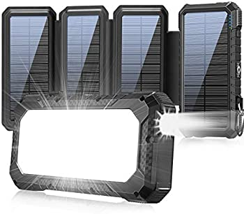 XZL 26800mAh 18W QC3.0 Outdoor Power Bank with 4 Solar Panels