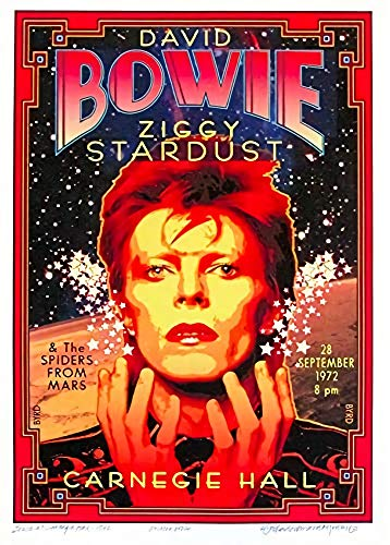 Theissen Vintage Band David Bowie Ziggy Stardust Rock & Roll Concert Gig Advertisement Poster Wall Art Reproduction - Matte Poster Frameless Gift 11 x 17 inch(28cm x 43cm)*IT-00133