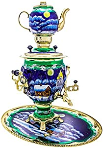 "Samovar electric 3 liters""Tula"" in the set""Christmas night"" hand-painting"