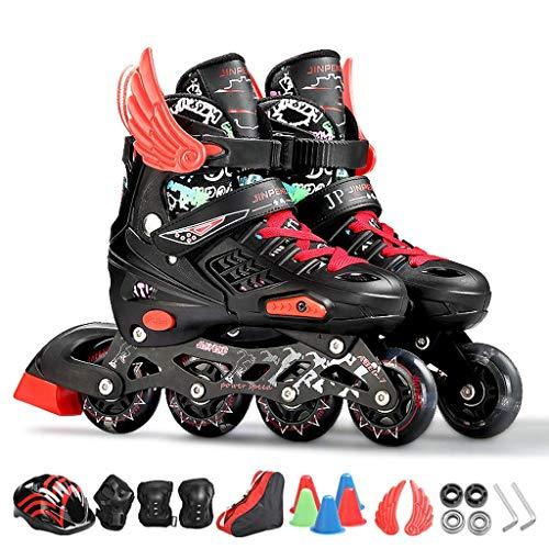 Taoke Kinder Inline Skates, hohe Bounce Flashing Quad Roller Skates, Durable Roller Skates for Jungen und Mädchen (Farbe: # 3, Größe: L (EU 38-41)) dongdong (Color : #3, Size : L (EU 3841))