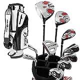 WORLD EAGLE(ワールドイーグル) F-01α メンズ ゴルフ クラブ フルセット ホワイト バッグver. 左用 フレックスS WE-J-F-01-MLH-WT