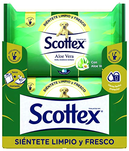Scottex Sensitive Aloe Vera Carta igienica umidificata - 12 confezioni da 40 pezzi