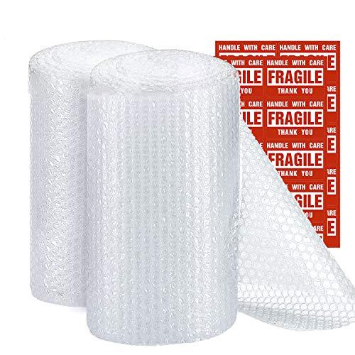 Switory Involucro per bolle da 305mm x 22m per trasloco, rotoli di bolle con 20 adesivi extra fragili, sezioni perforate 30cm x 30cm facili da strappare per l'imballaggio