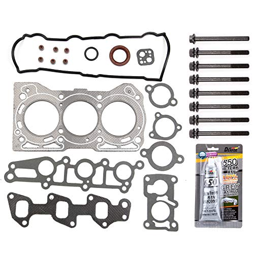 ECCPP Engine Head Gasket Set w/Bolts fit 89-00 Chevrolet Metro SOHC Geo Metro SOHC Chevrolet Sprint SOHC Pontiac Firefly Pontiac Firefly Turbo SOHC Compatible fit for Gaskets Kit