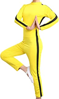Adult Children Unisex Martial Arts Costumes Chinese Kung Fu Yellow Jumpsuit Fighting Movie Cosplay Death Game