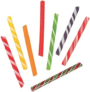 Fun Express - Old Fashioned Sticks (80pc) - Edibles - Hard Candy - Candy Cane & Stick - 80 Pieces