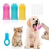 Juego de 9 cepillos de dientes para gatos y perros, cepillo de dientes para dedos con cobertura completa de 360 °, cepillo de dientes para mascotas, limpieza de dientes, eliminación de placa
