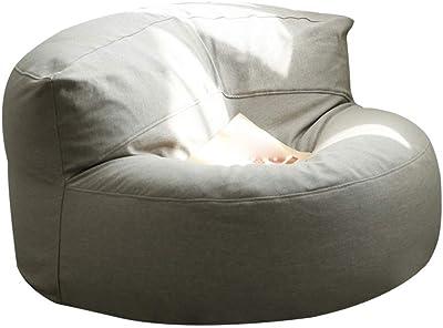JTSW Simple Bean Bag Tatami Multi-Color Lazy Sofa Bedroom Balcony Creative Wild Small Sofa with Footrest 60×50cm (Color : Gray)