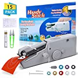 Mini Handheld Sewing Machine, LIUMY 15 Pcs Portable Sewing Machine, Mini Cordless Handheld