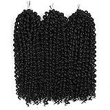 3Pcs/lot Jerry Curl Crochet Braids Hair Extensions Freetress Deep Twist Water Wave For Women Synthetic Crochet Braiding Hair Bundles (10inch,1)