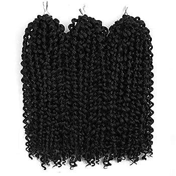 3Pcs/lot Jerry Curl Crochet Braids Hair Extensions Freetress Deep Twist Water Wave For Women Synthetic Crochet Braiding Hair Bundles  10inch,1