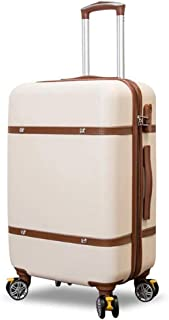GLJJQMY Luggage, Small Fresh 28-inch Trolley Case, 24-inch Student Suitcase, (Beige) Trolley case (Color : Beige, Size : 22 inch)