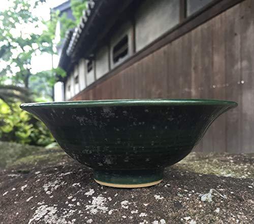 せともの市場 秋山作 植木鉢 織部 5号 陣笠 盆栽鉢 10017634