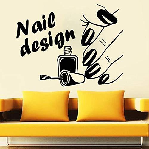 Diseño de arte de uñas, calcomanía de pared, salón de belleza, salón de uñas, manicura, decoración de interiores, vinilo, adhesivo para pared, ventana, vidrio, Mural