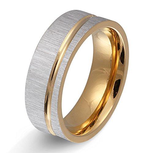 Juwelier Schönschmied - Herren Partnerring Ehering Freundschaftsring Hochzeitsring Stature Edelstahl 70 (22.3) 171Hac